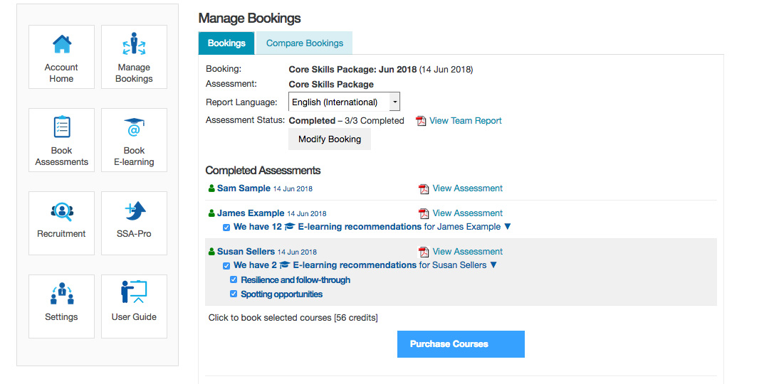 e learning modules aligned to your sales skills audit reports